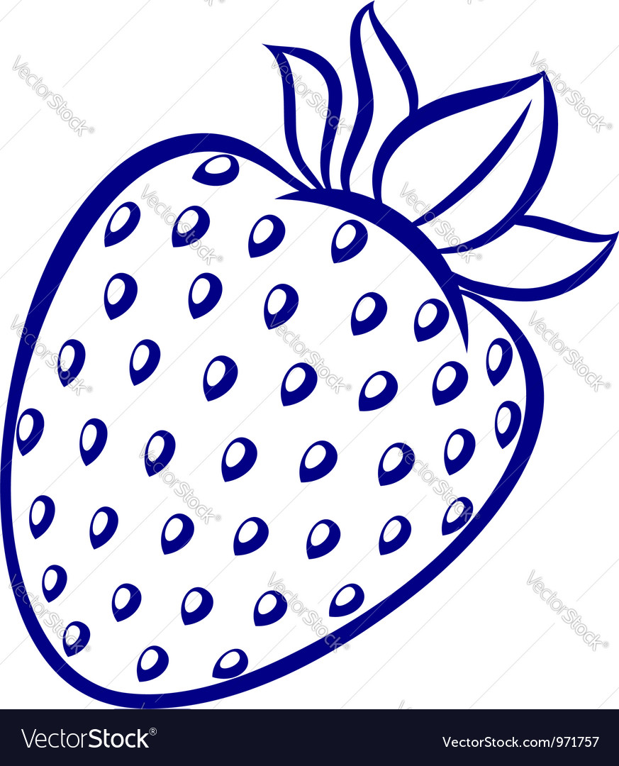 strawberry royalty free vector image vectorstock rh vectorstock com strawberry vector free strawberry vector free download