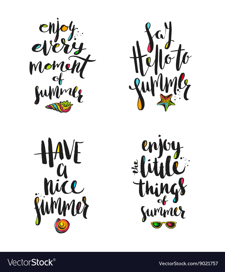 Summer holidays calligraphy greetings