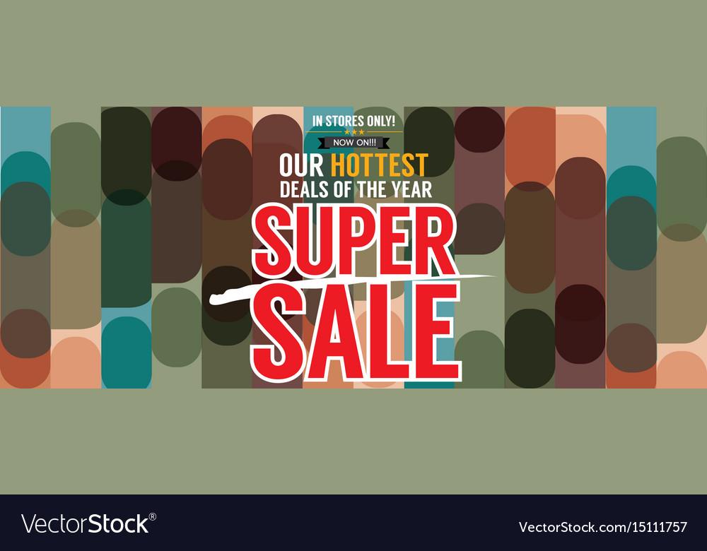 Super sale hottest deal promotion sale banner