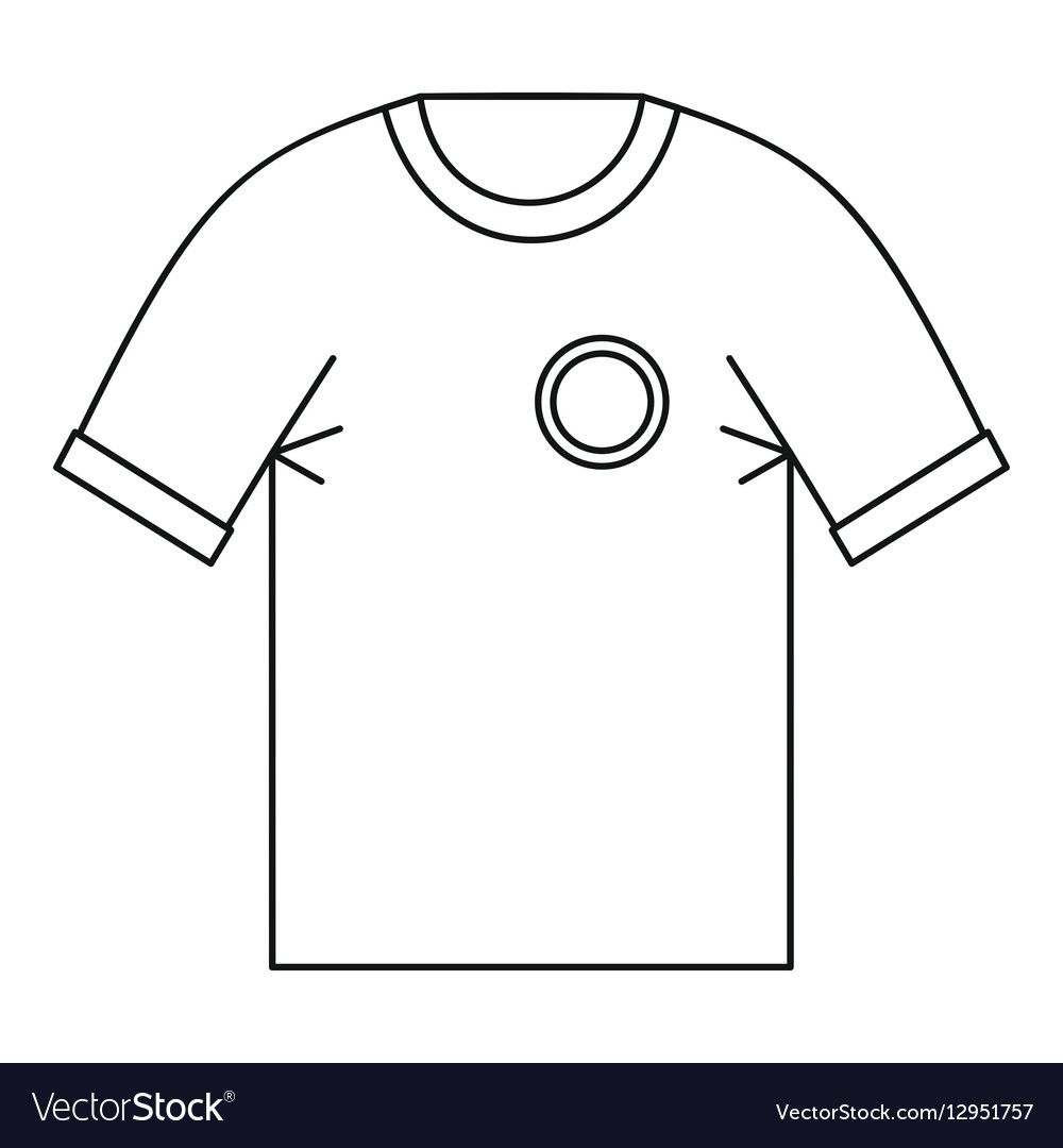 T shirt uniform team icon outline style vector image