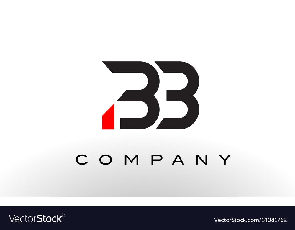 Bb logo letter design royalty free vector image for Logo bb