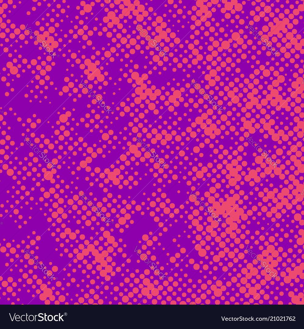Bright pink retro polka dot comic book page