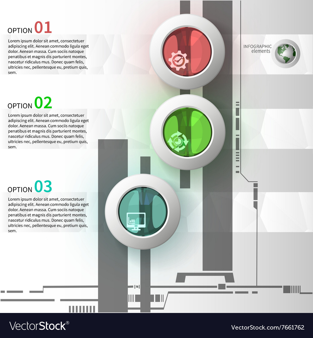 Colorful glass infographics