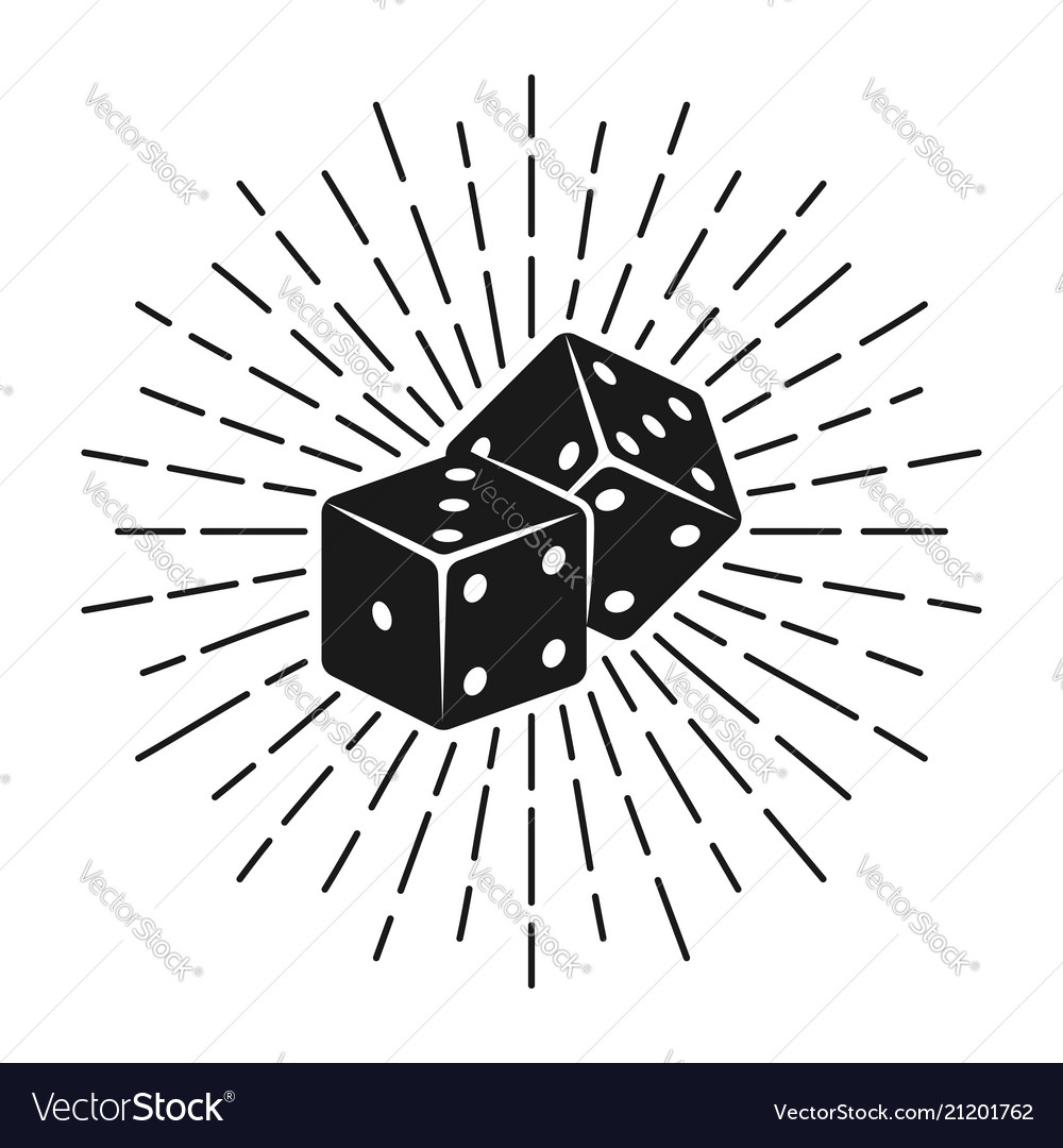 Dice for gambling with rays