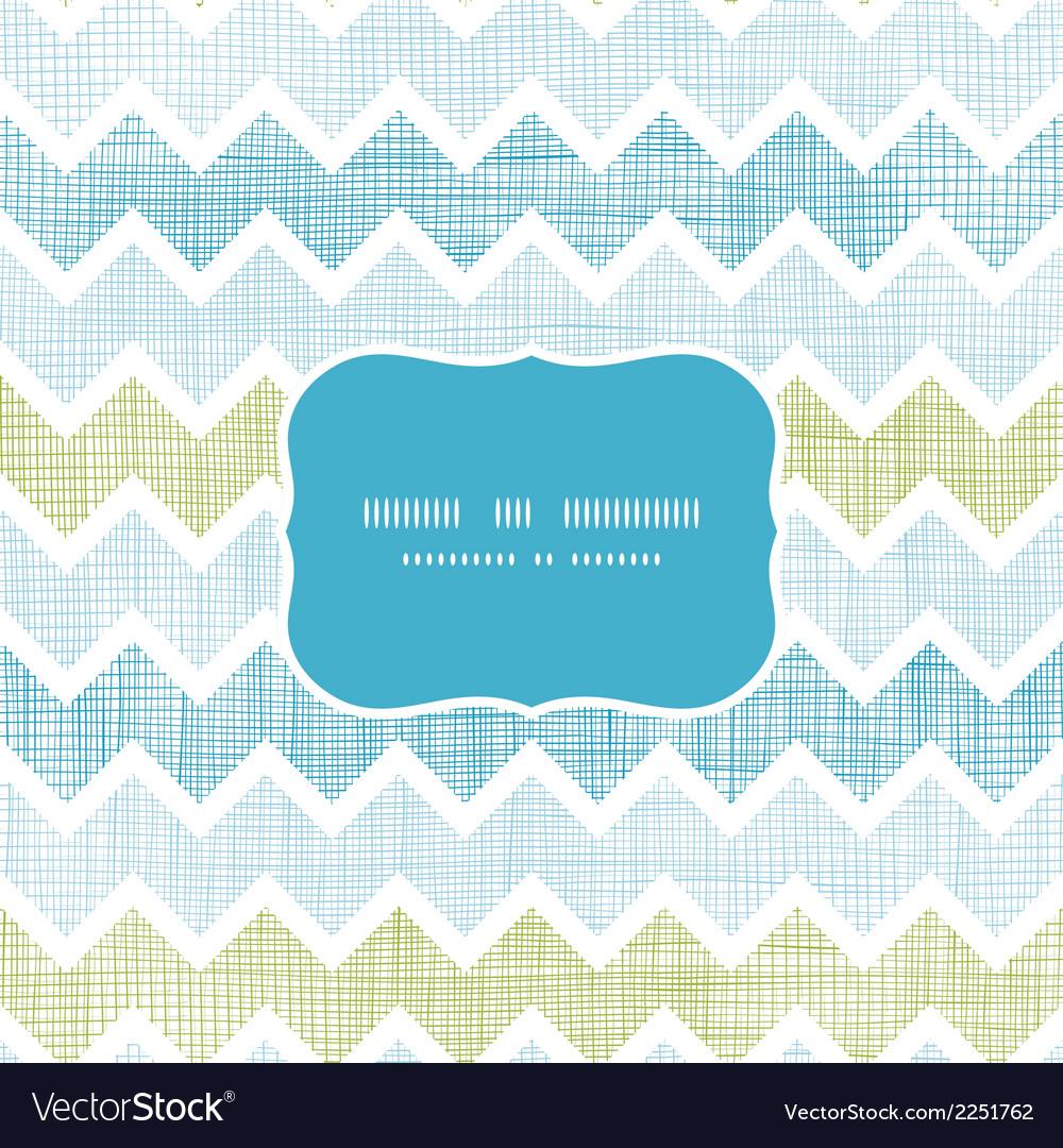 Fabric textured chevron stripes frame seamless vector image