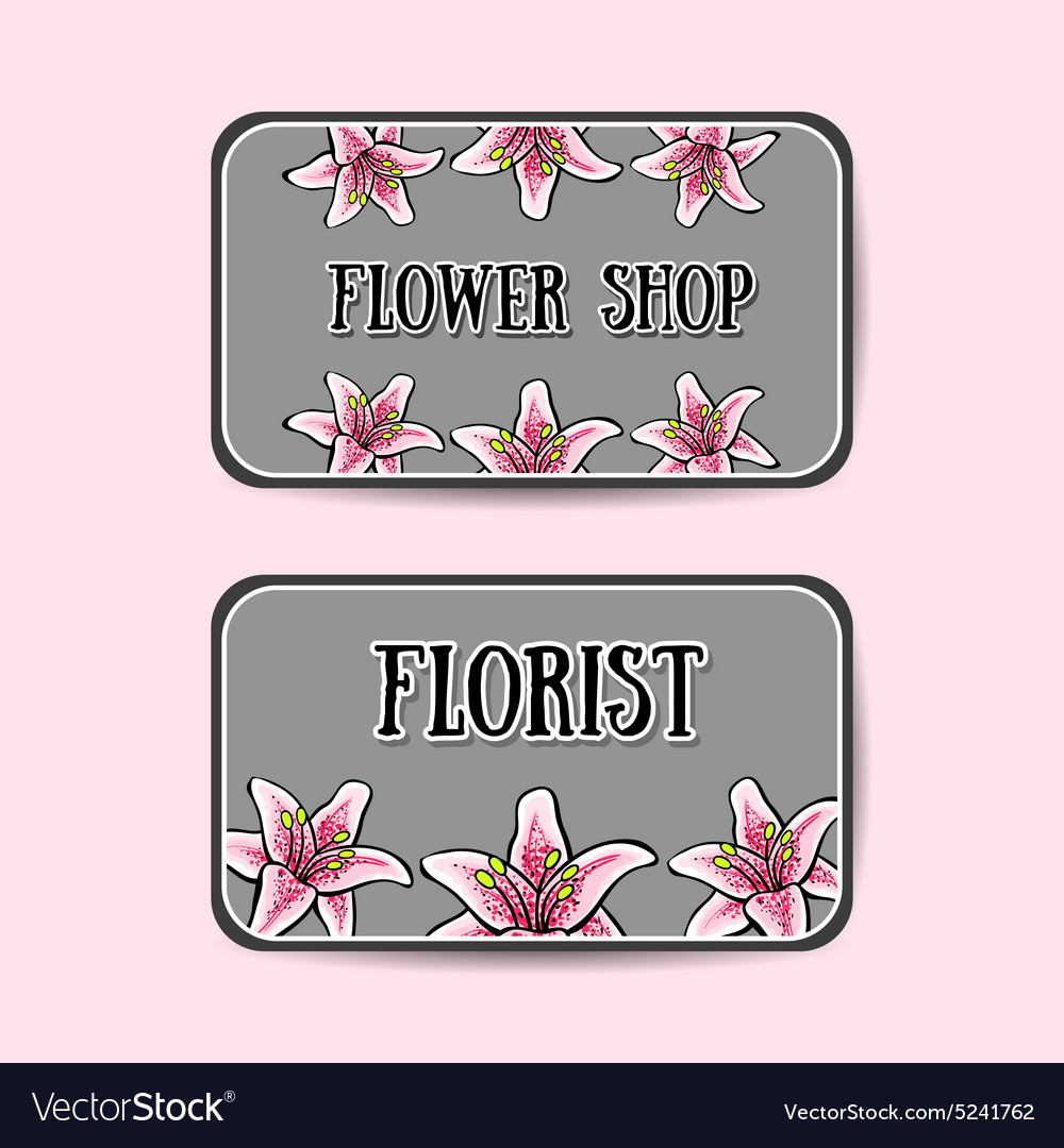 FlowerBusinessCards2 vector image