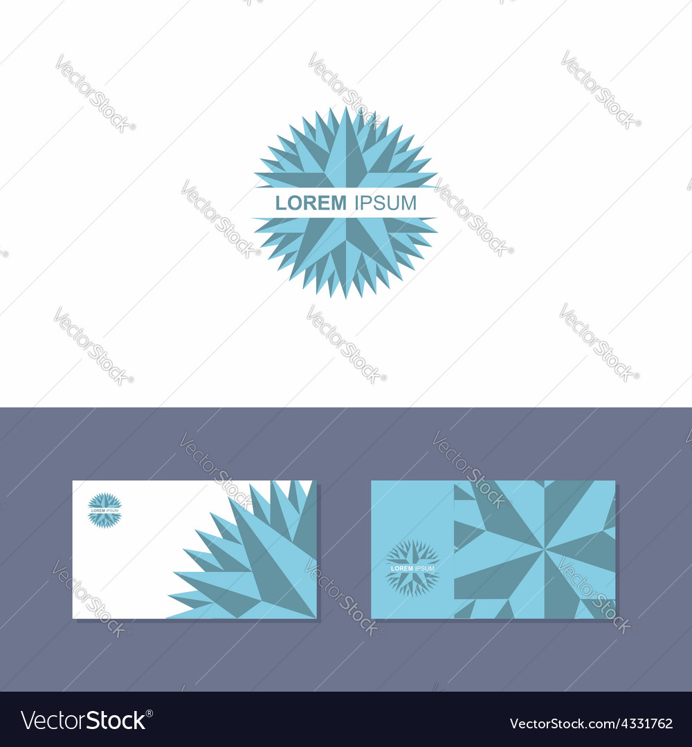 Icon Logo design element with business card