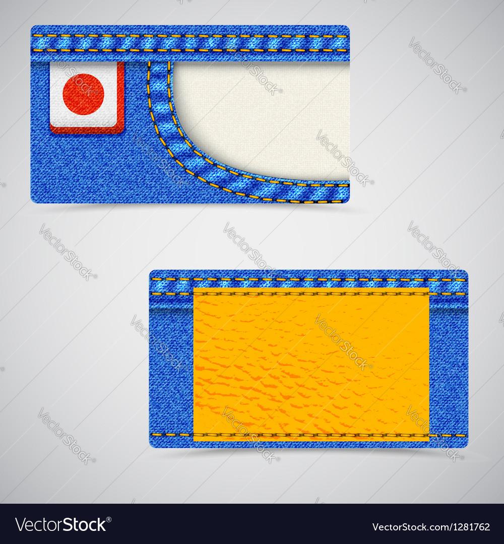 Jeans business card fl