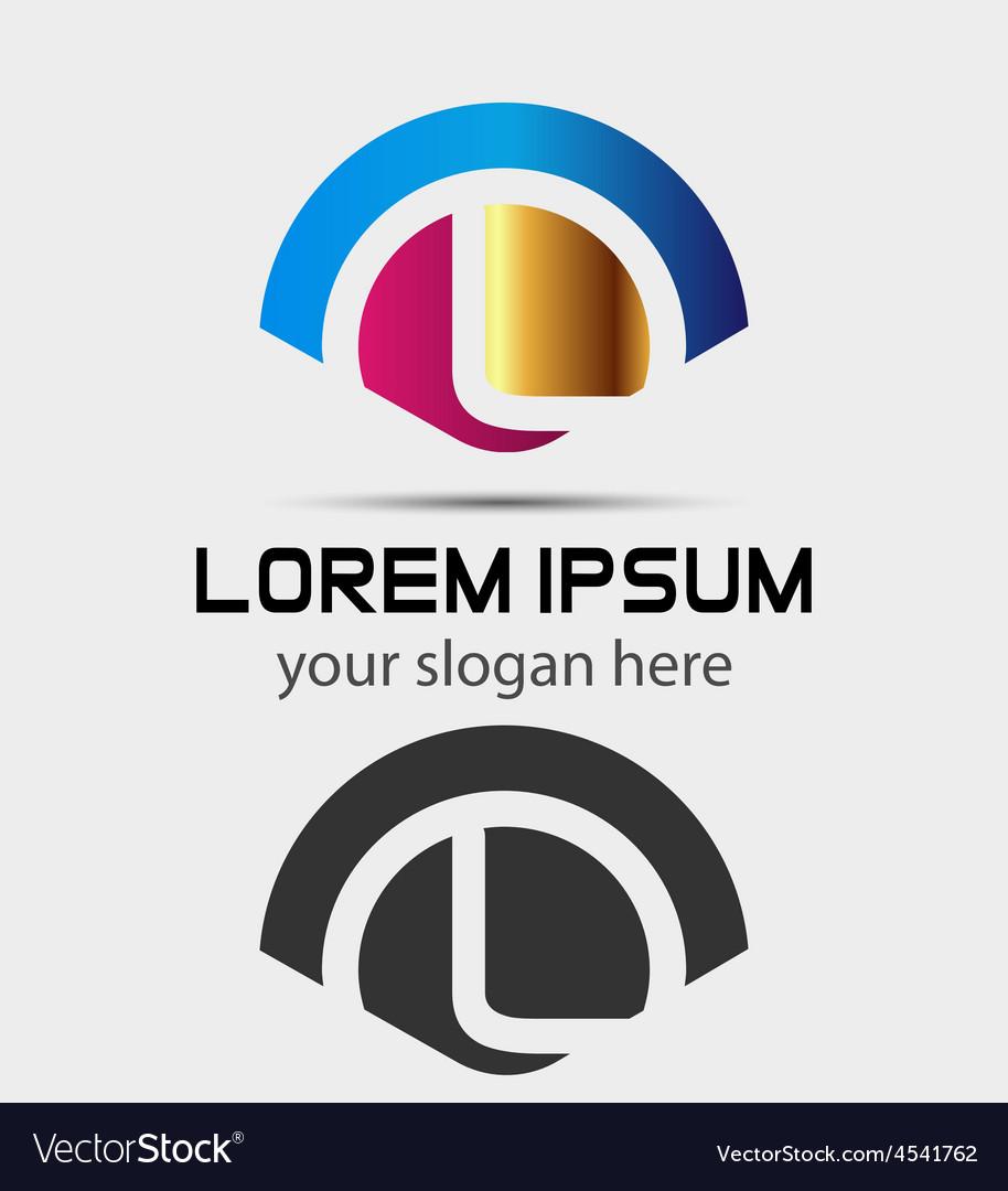 letter l logo design creative symbol of letter l vector image