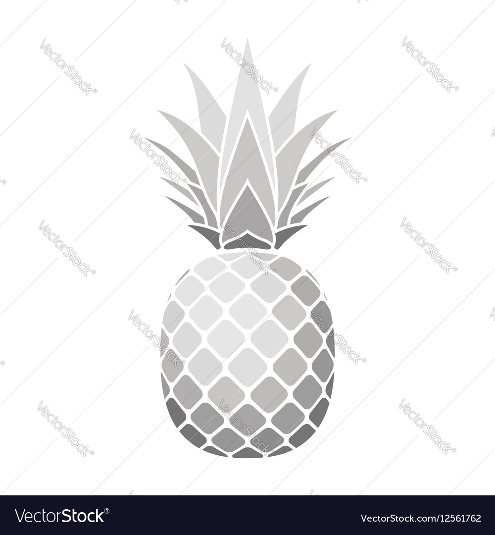 Pineapple silver icon