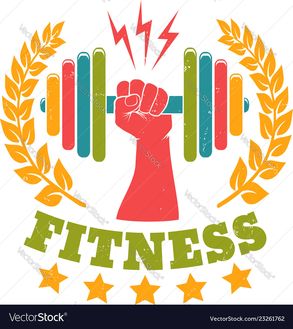 Retro emblem for gym