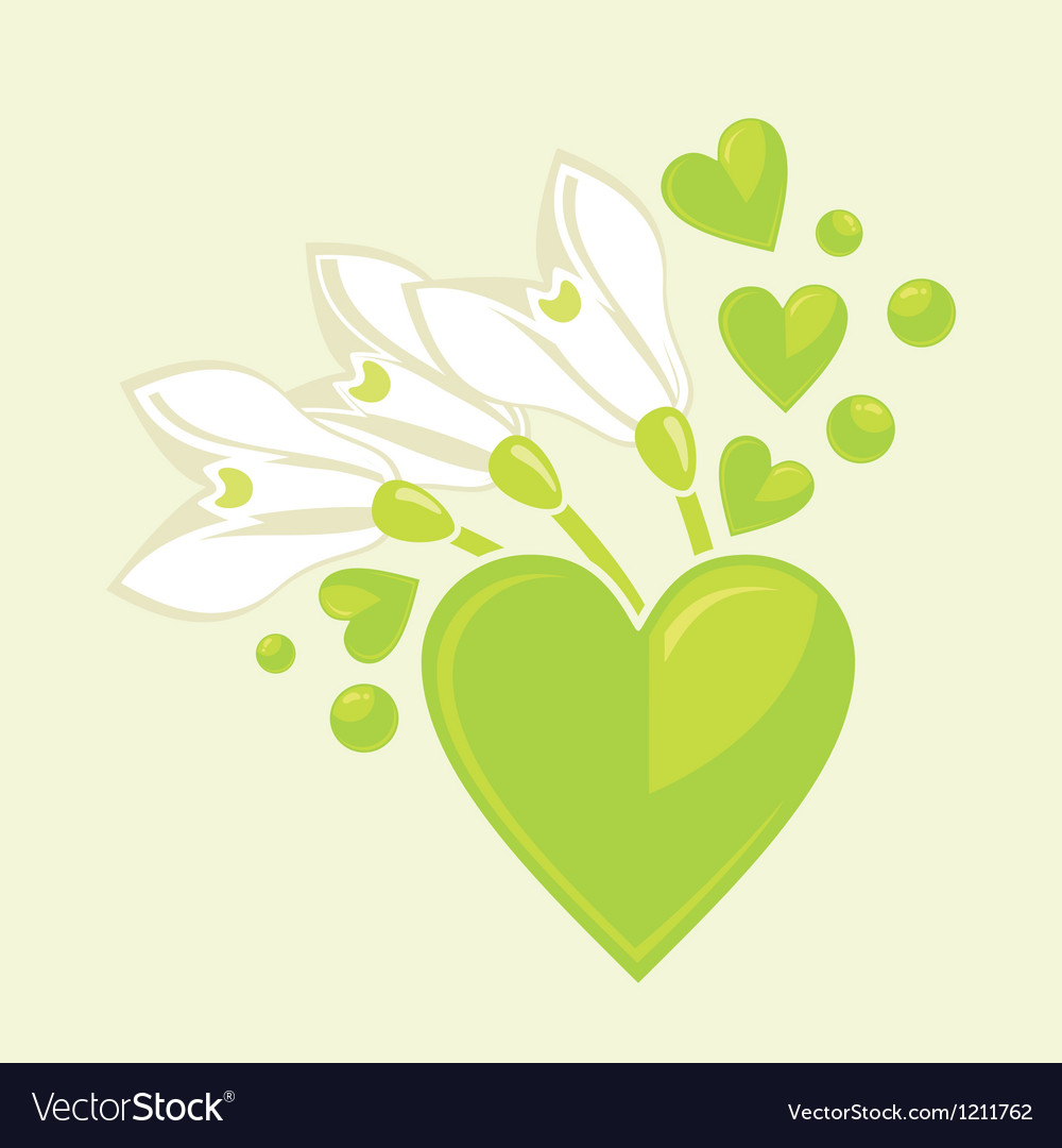 Snowdrops and hearts
