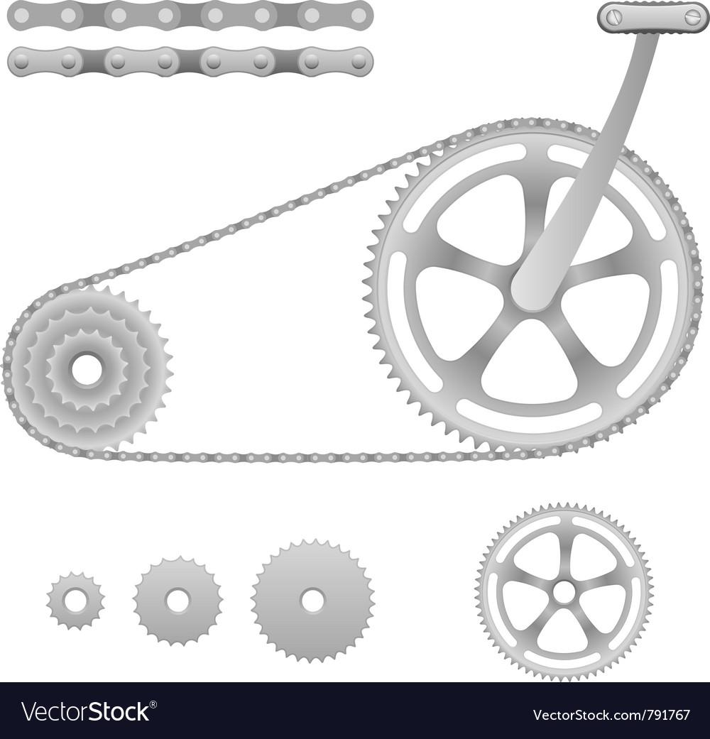 Bicycle gear vector image