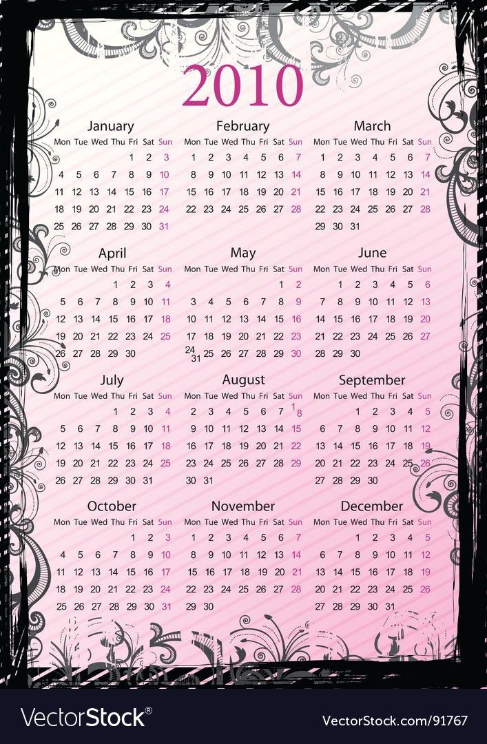 Calendar border