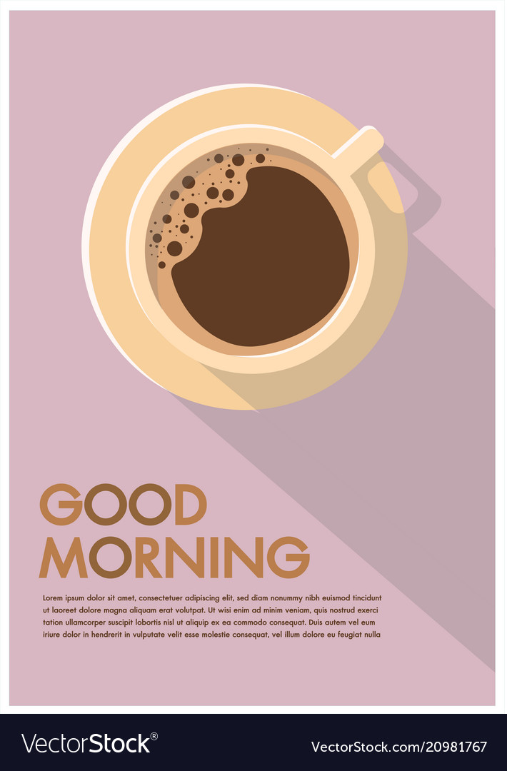 Coffee cup poster flat design advertisement Vector Image