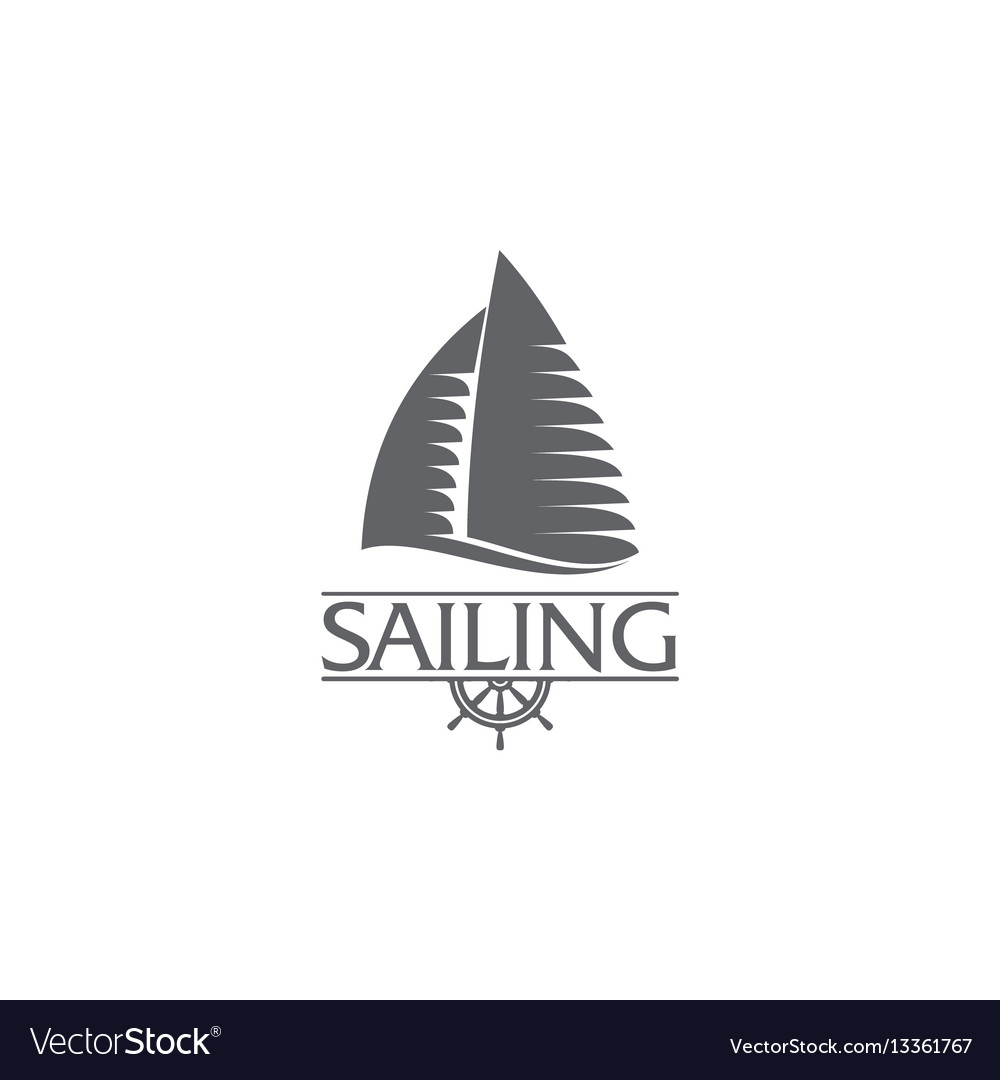 Graphic yacht club sailing sport logo template