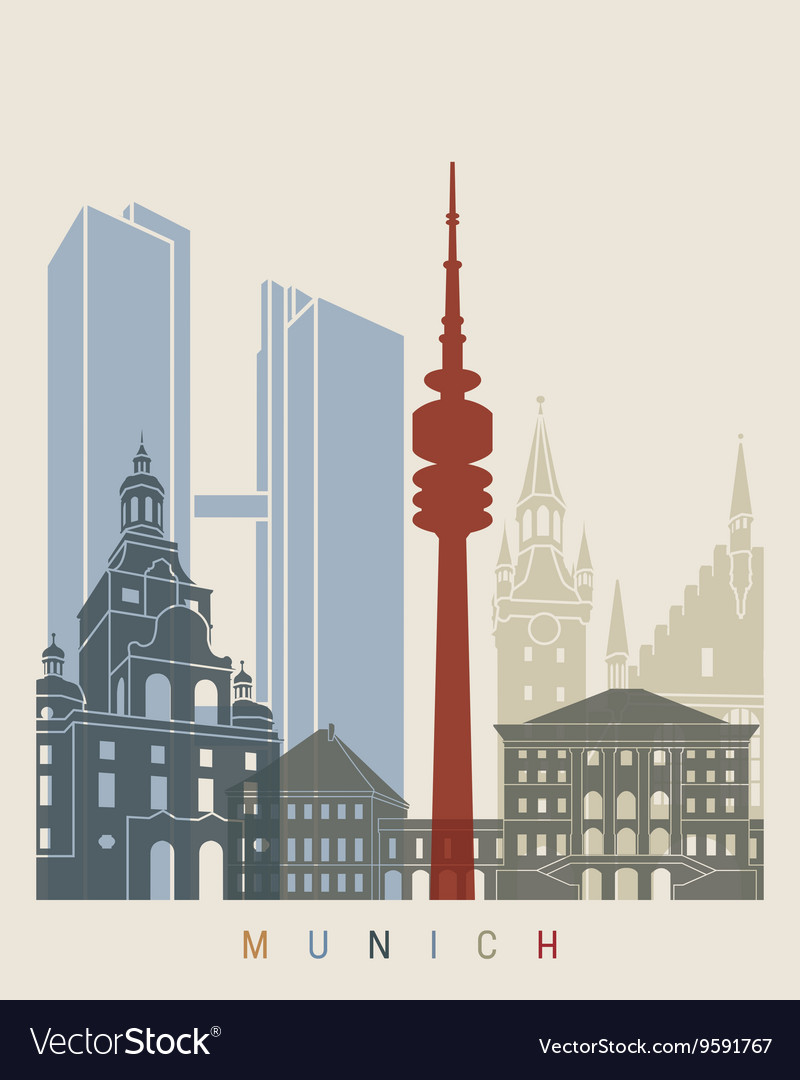 Newcastle skyline poster vector image