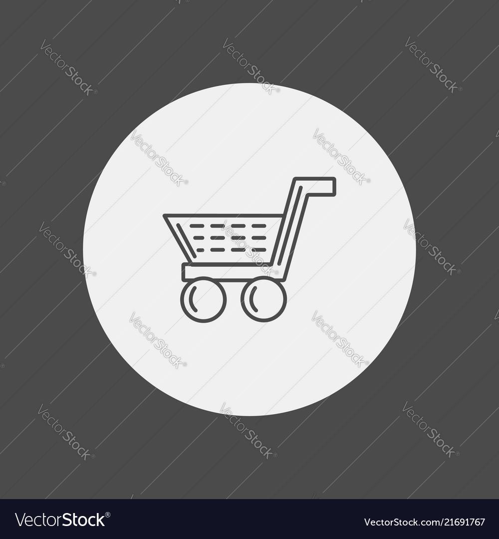 Shopping cart icon sign symbol