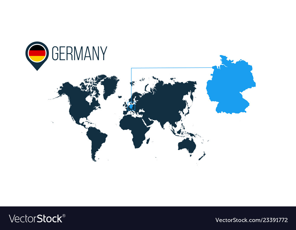 Germany location modern map for infographics all