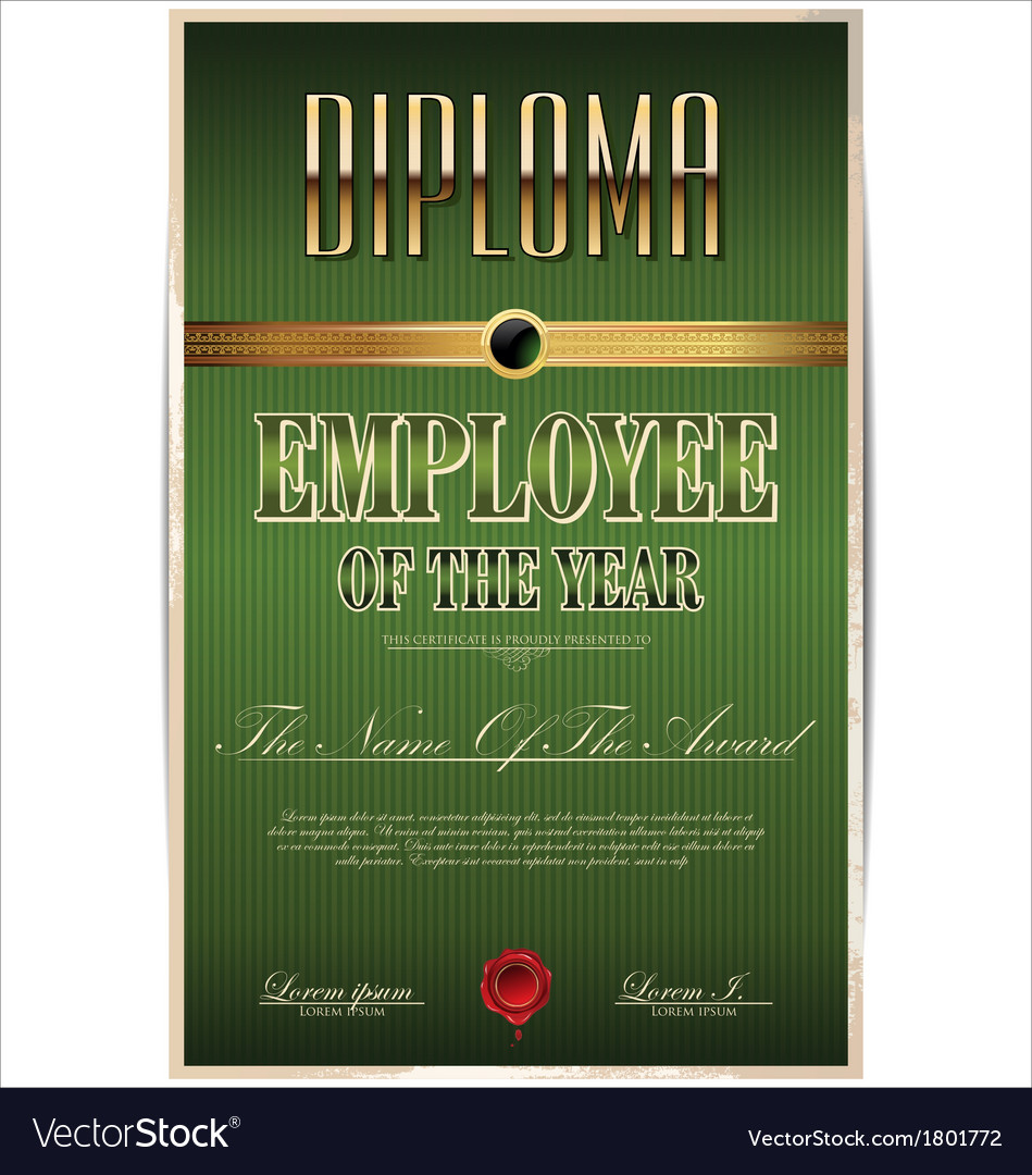 Green Diploma employee of the year