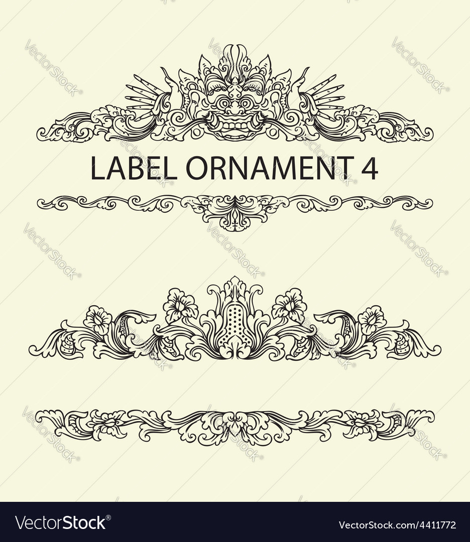 Label ornament 4