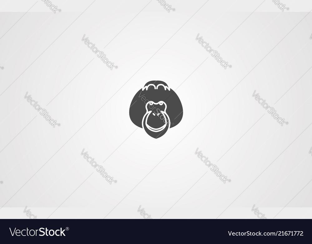 Orangutan icon sign symbol