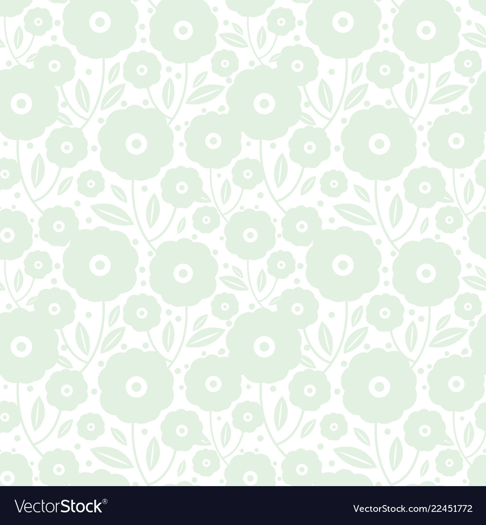 Pale green flowers texture pattern