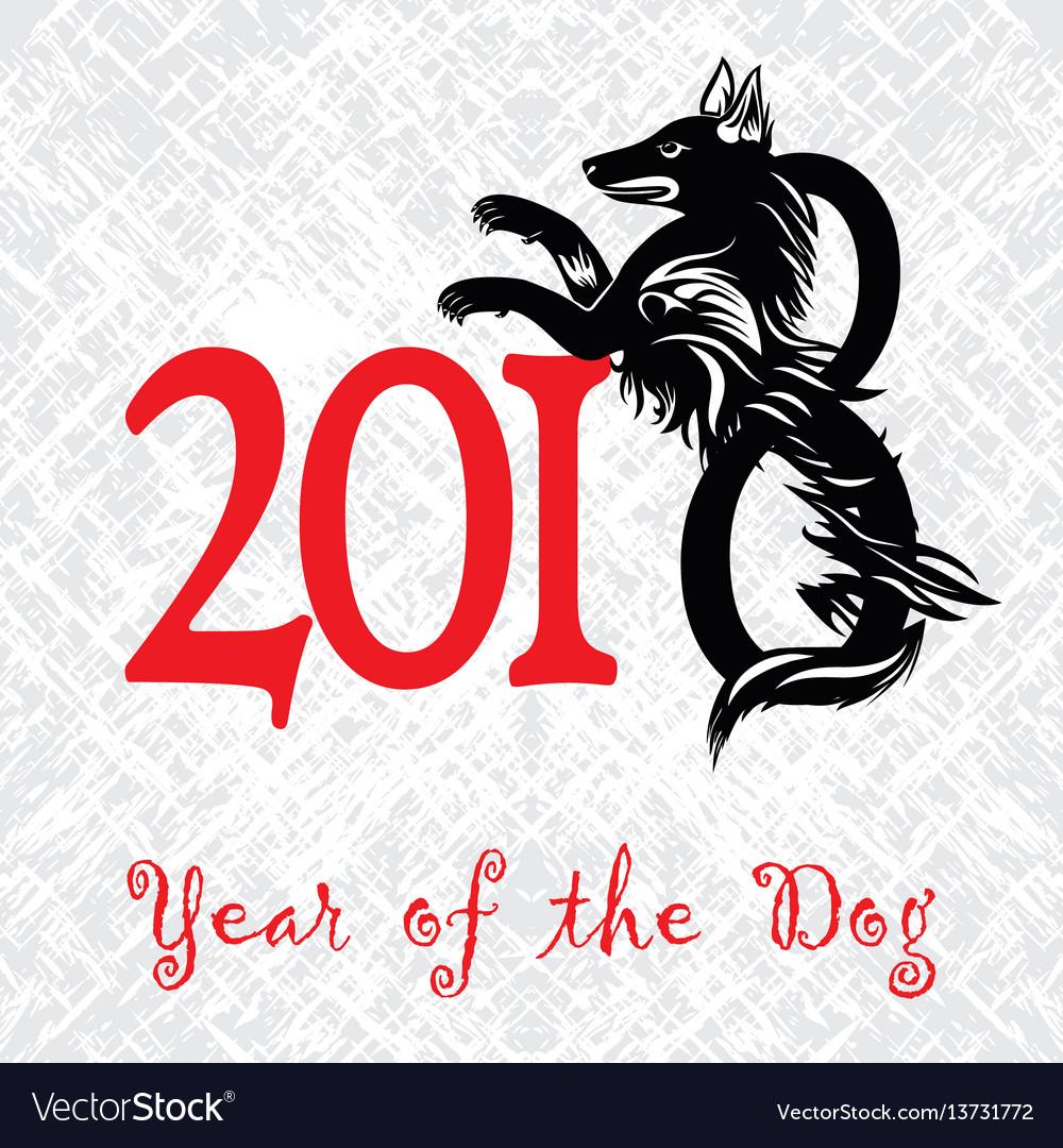 Puppy animal tattoo of chinese new year dog