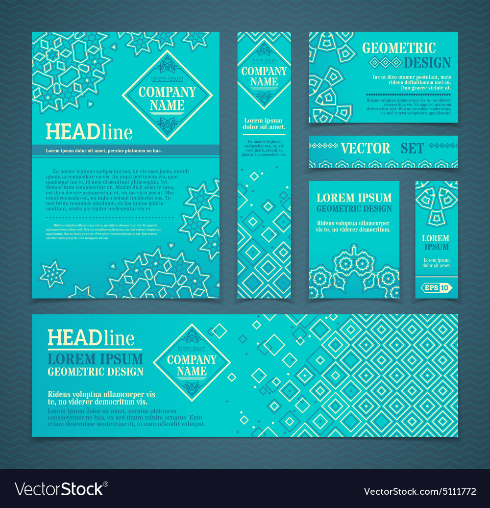 Set of retro design templates