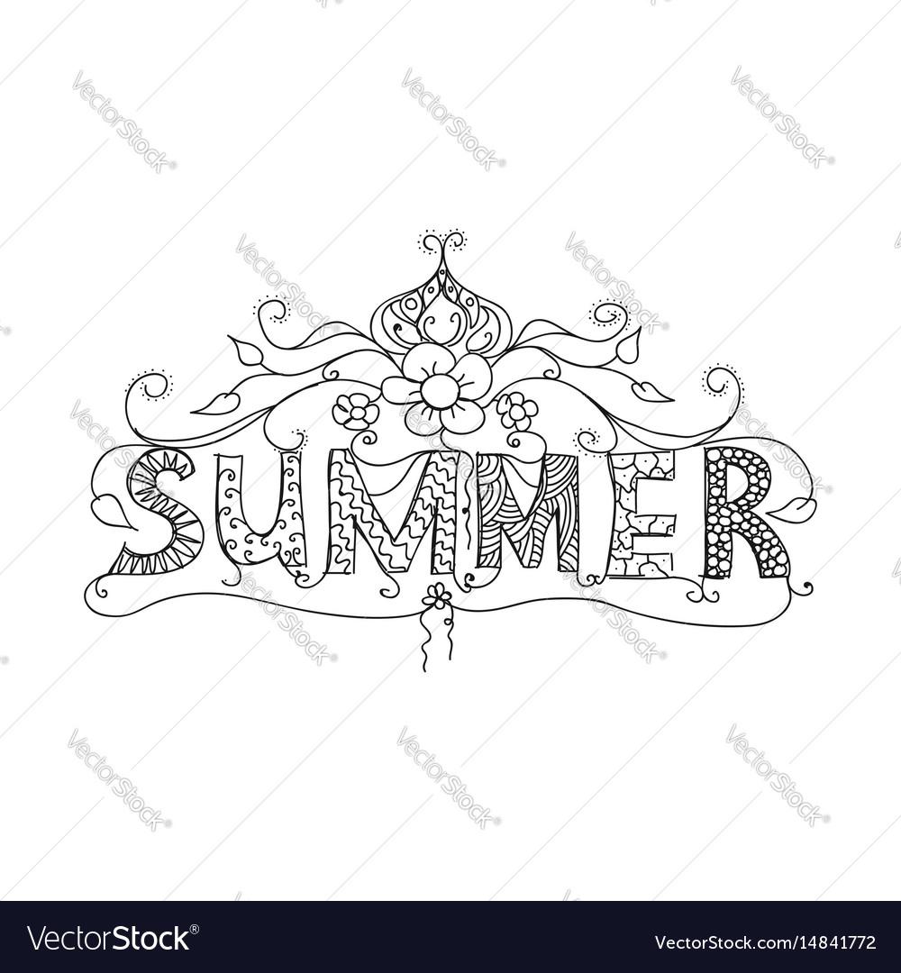 Summer floral ornament