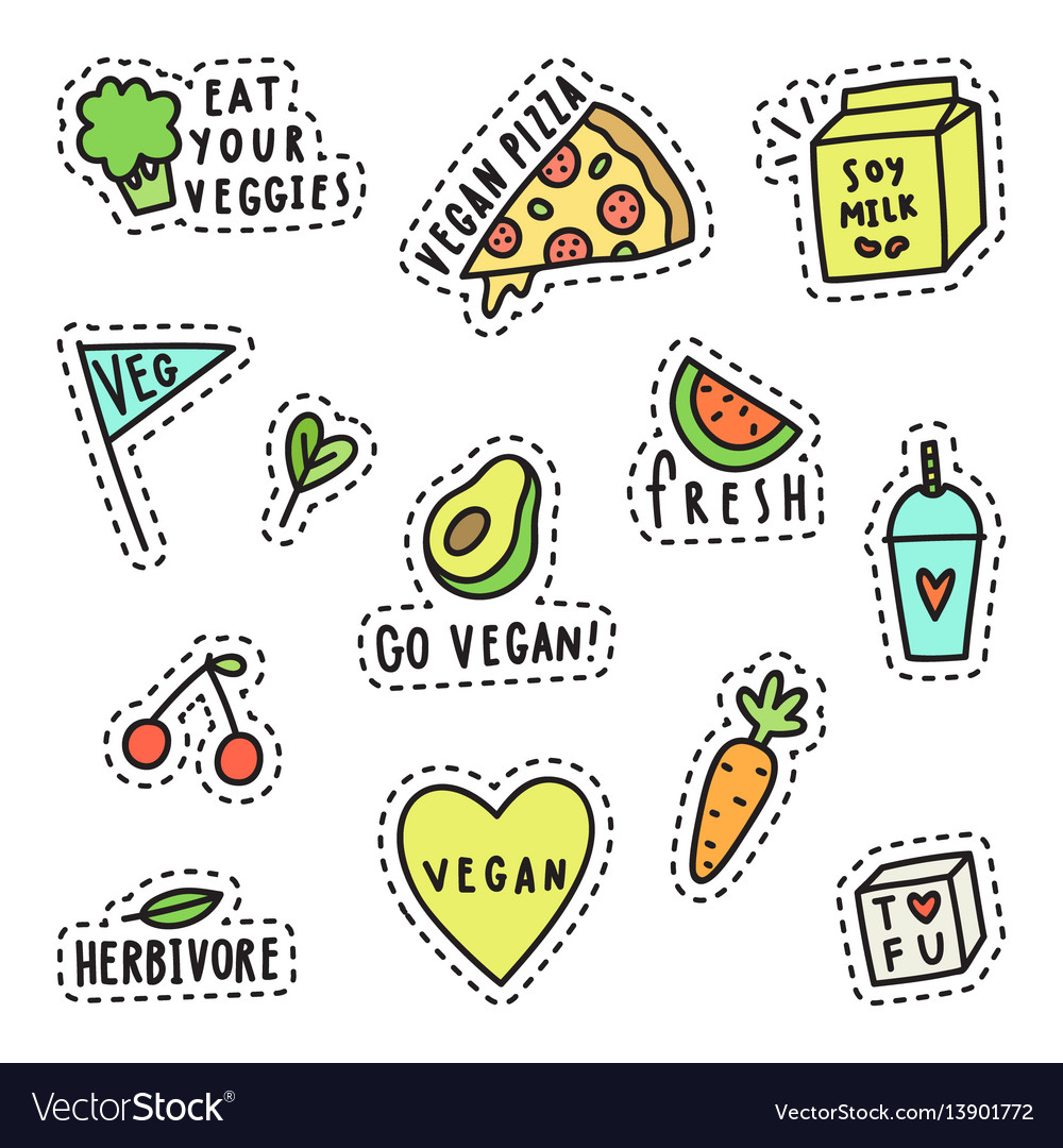 Vegan pins stickers