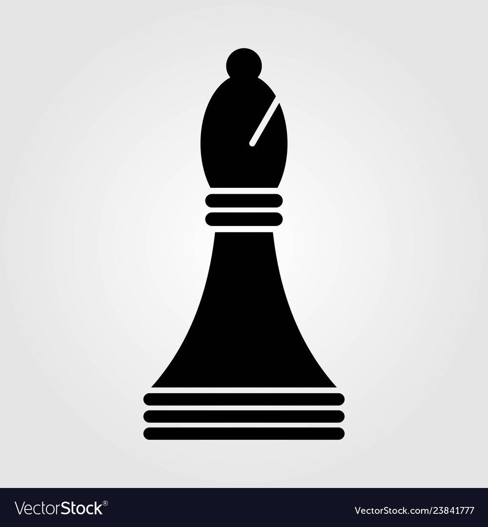 Chess bishop icon isolated on white background