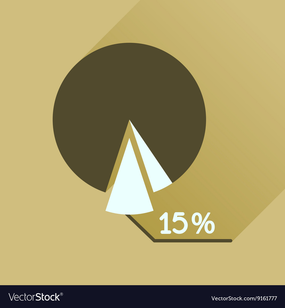 Flat icon with long shadow percent chart