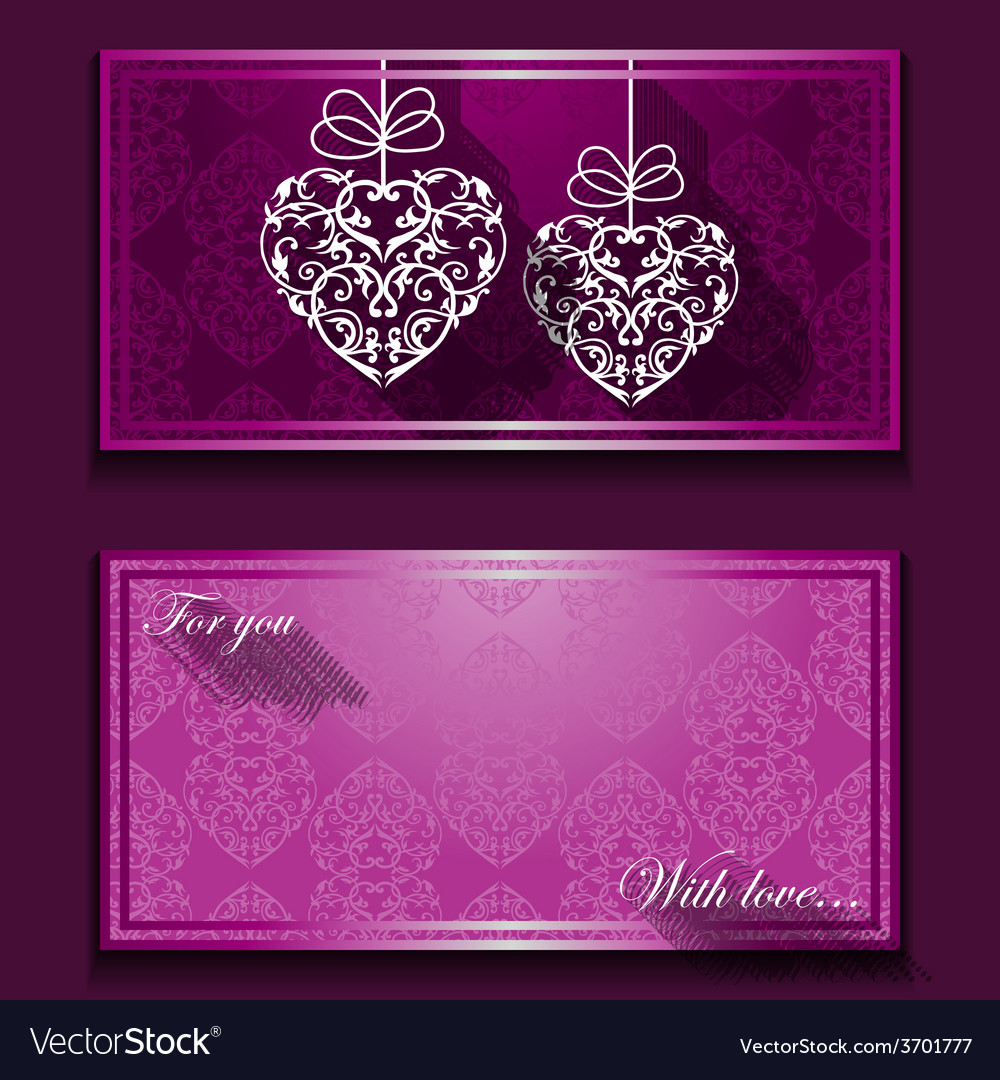 Greeting card with nice ornament