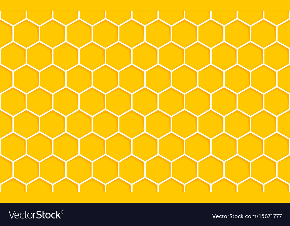 Honeycomb seamless pattern geometric hexagons