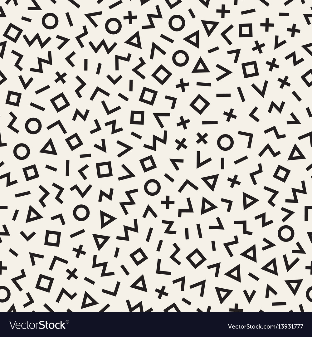 Scattered geometric line shapes abstract vector image