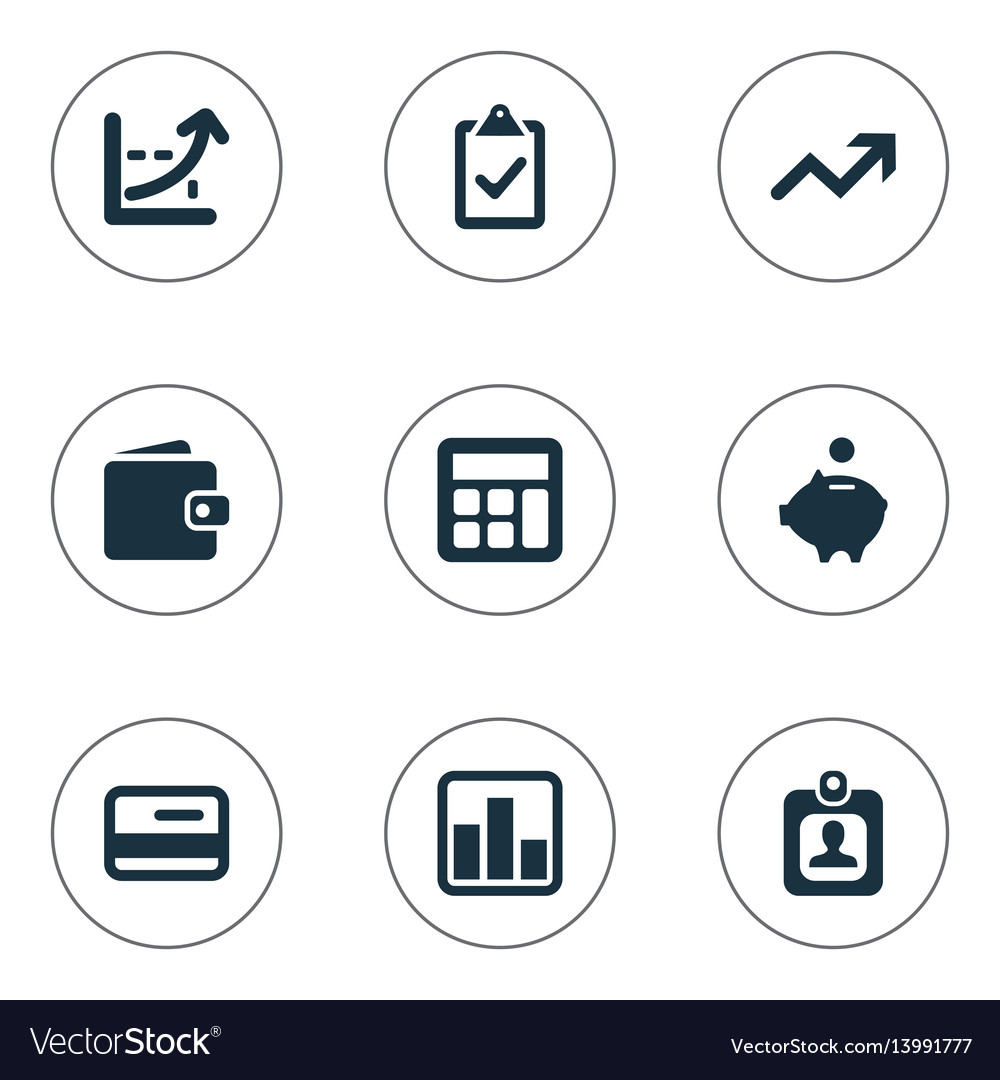 Set of simple finance icons