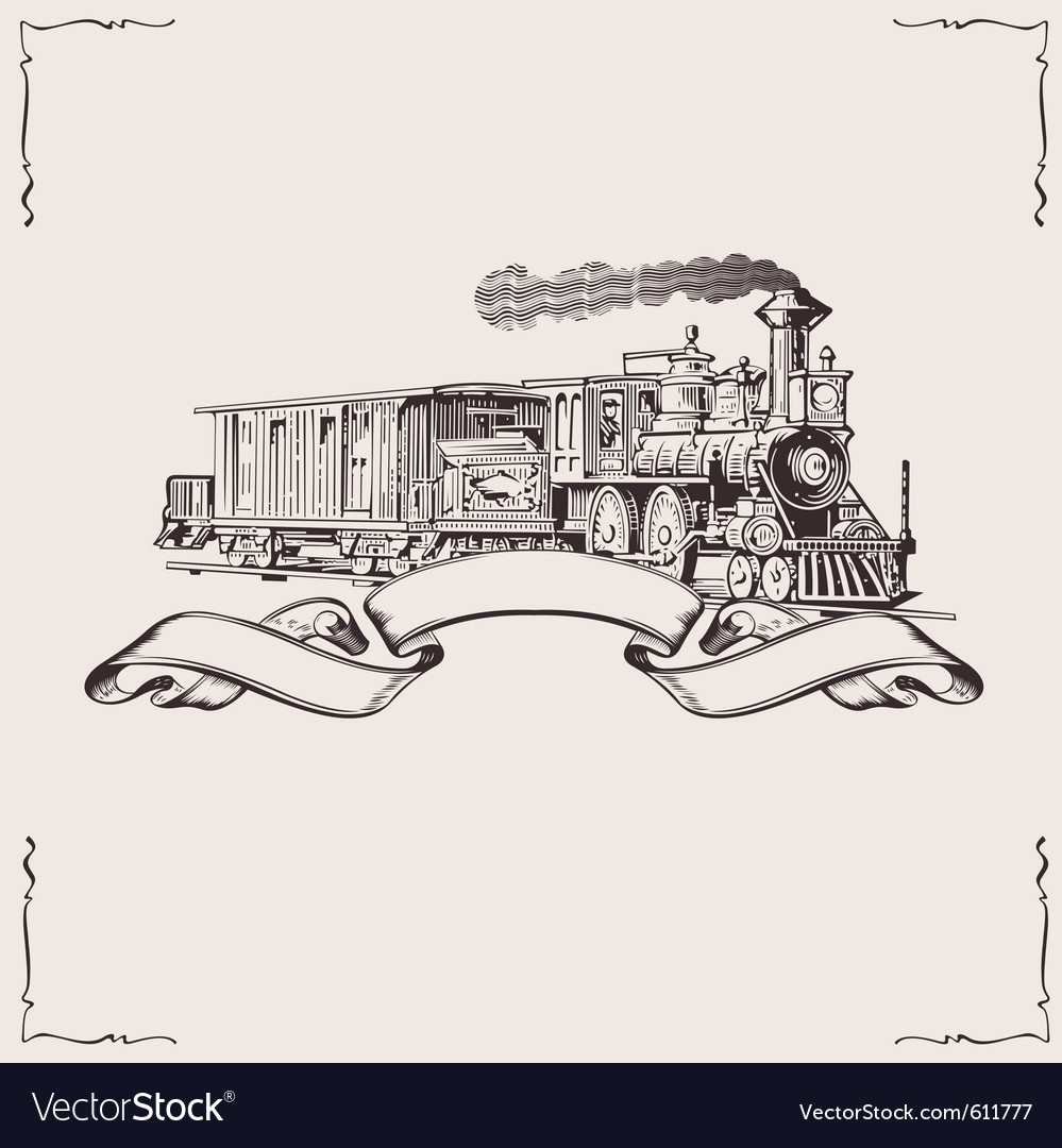 Vintage locomotive banner