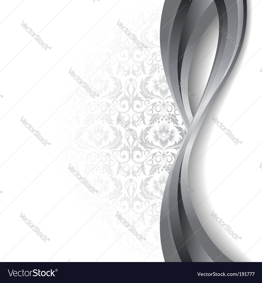 White and silver background vector image