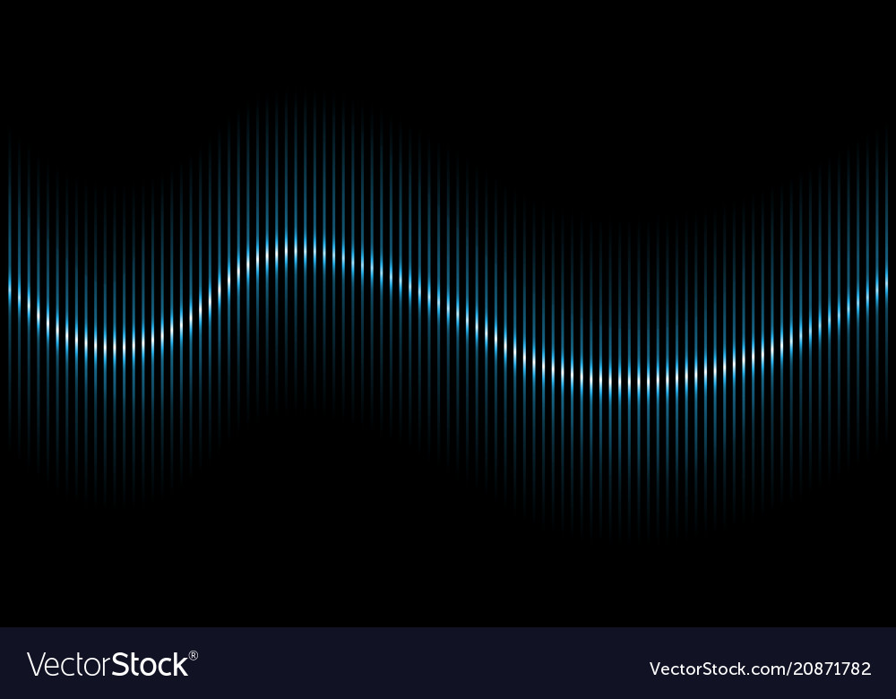 Abstract blue sound wave background