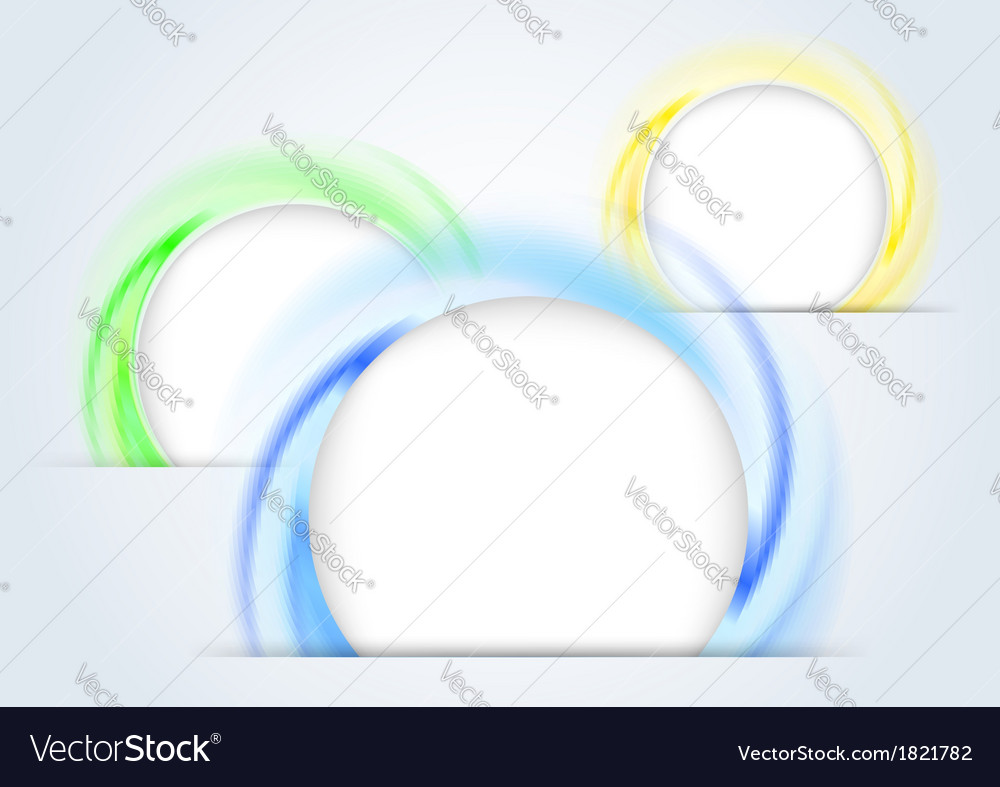 Abstract colorful rings forming a 3d background