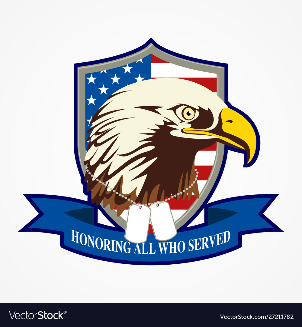 American shield and eagle