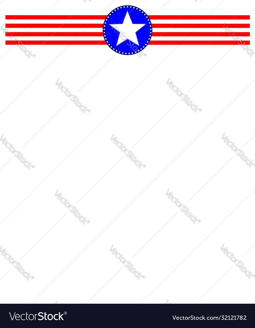 American symbols ribbon frame
