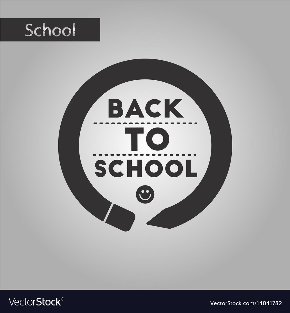 Black and white style icon back to school pencil