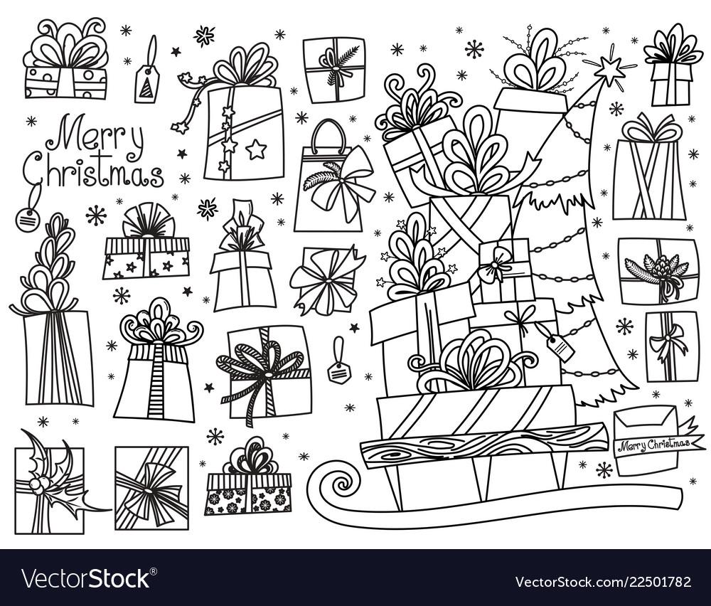 Doodle set christmas presents
