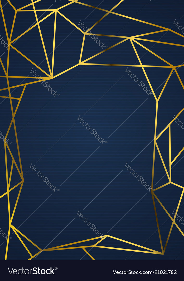 Golden luxurious wireframe abstract vintage card