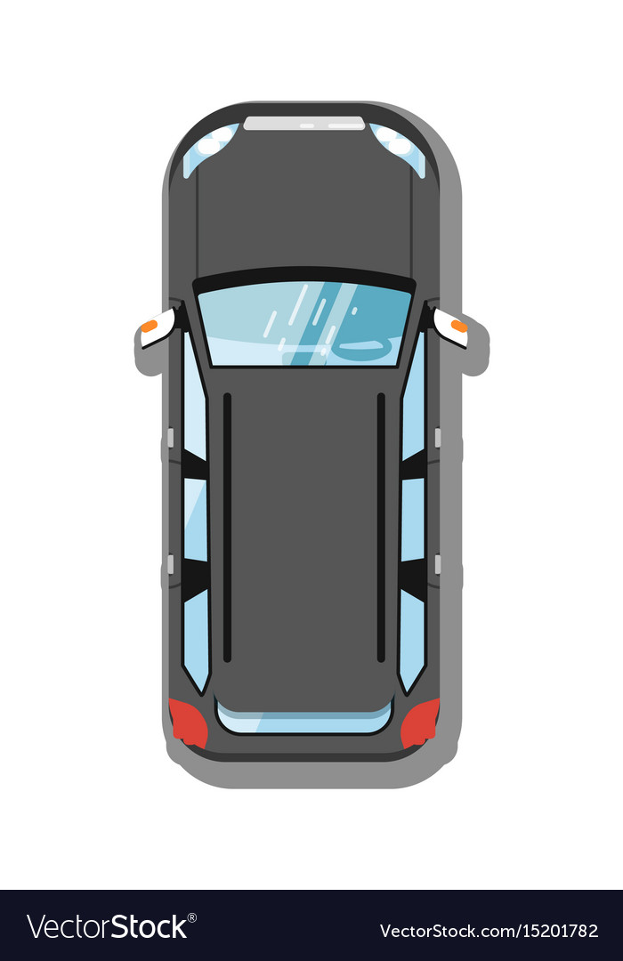 Modern Suv Car Top View Icon Royalty Free Vector Image
