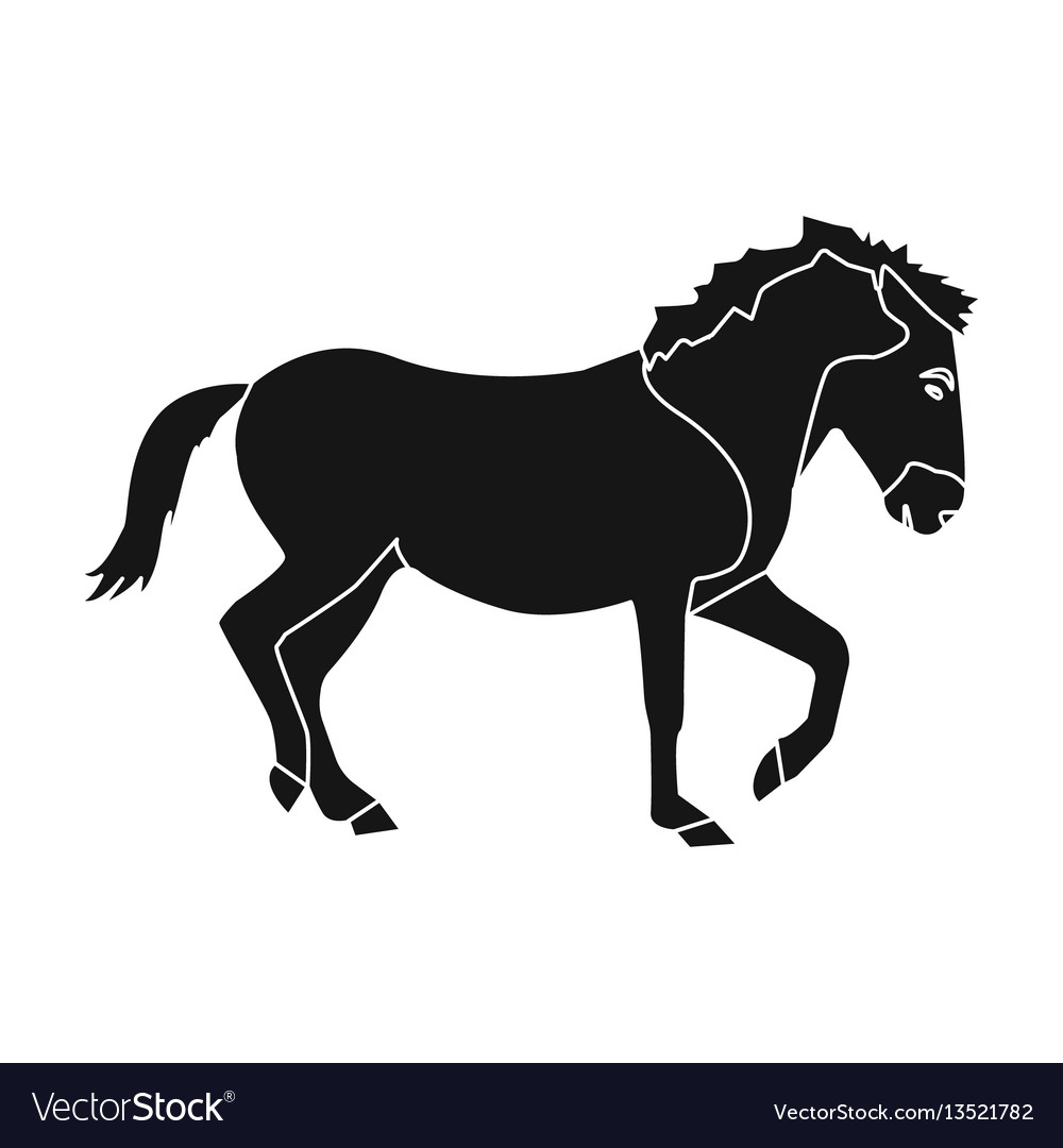 Mongolian horse vehicle ancient mongolov in the vector image