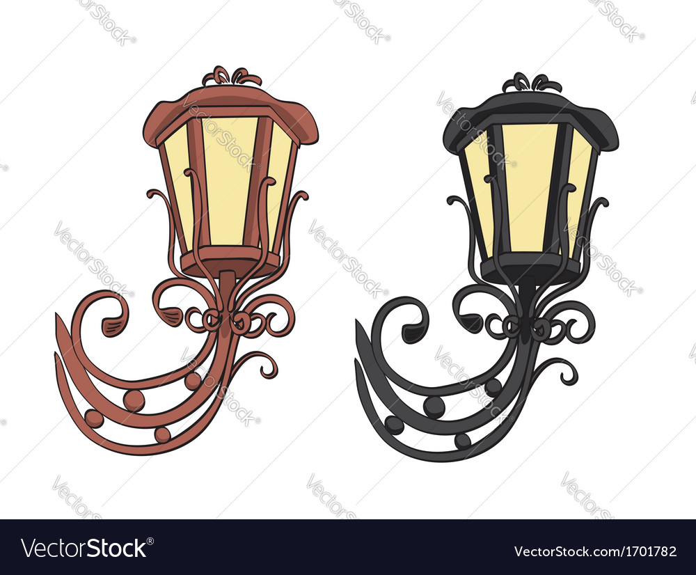 Old black and brown vintage lamps
