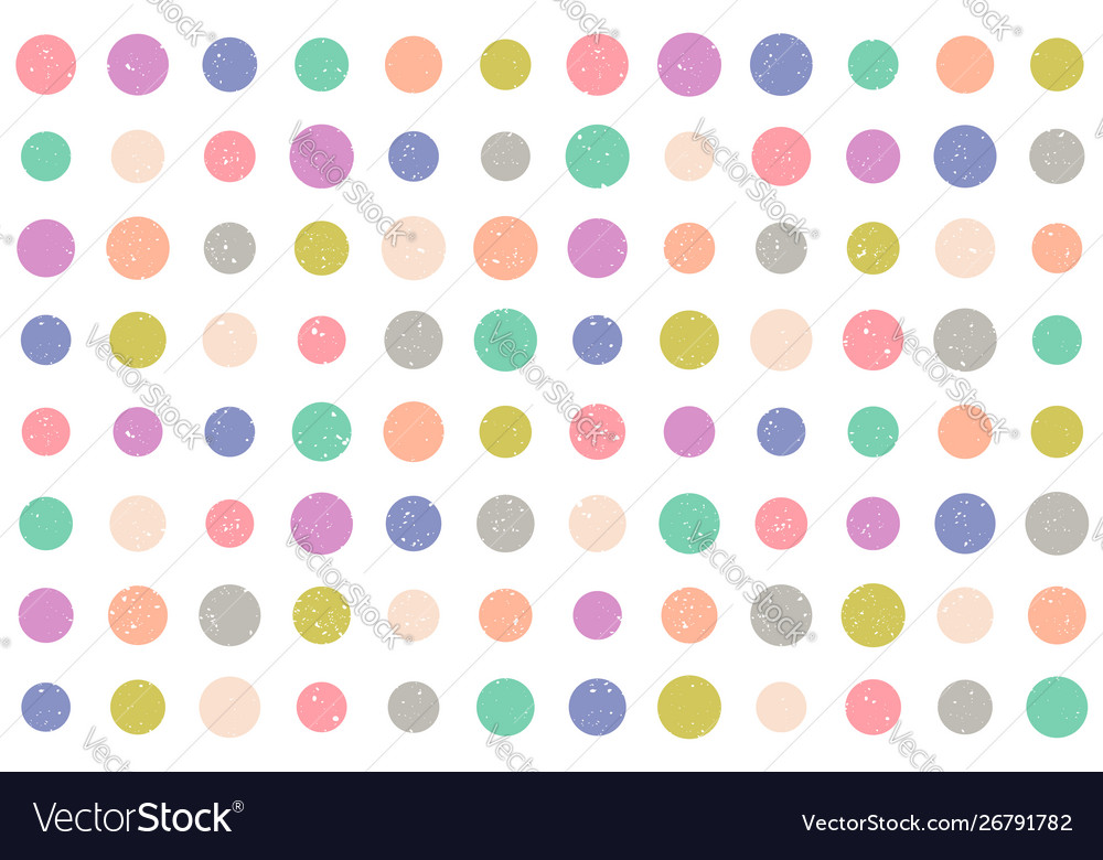 Pattern with grunge dots
